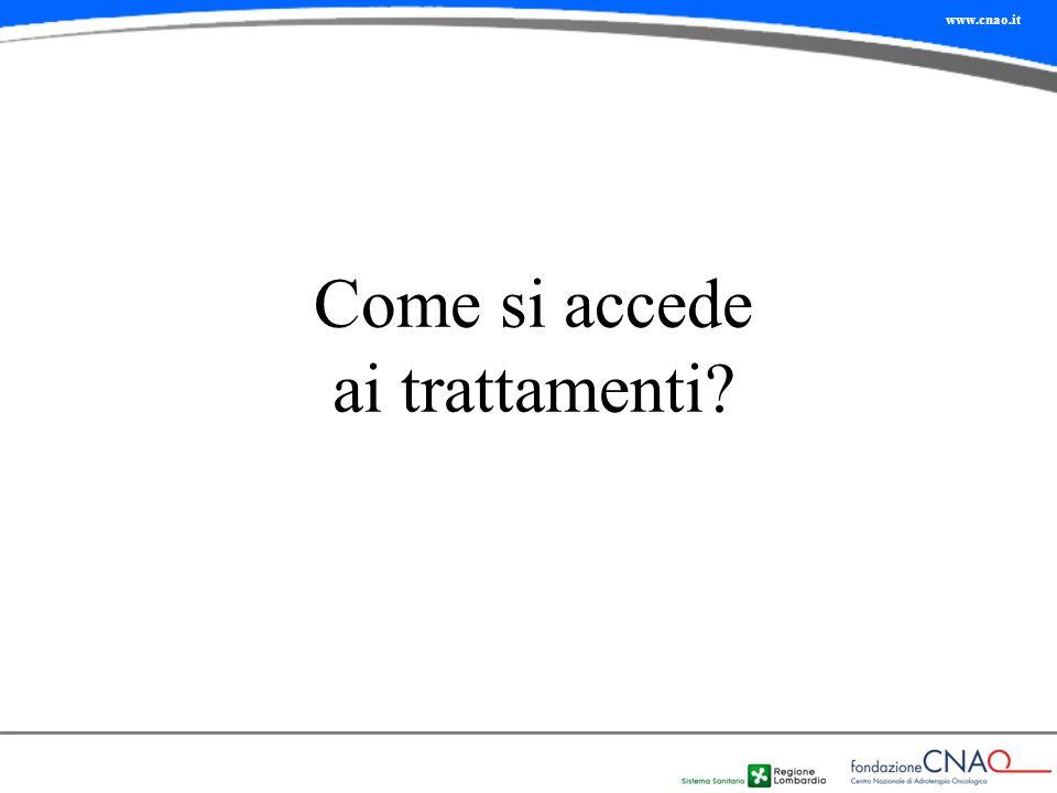 Come si accede ai trattamenti