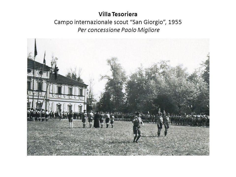 Villa Tesoriera Campo internazionale scout San Giorgio , 1955 Per concessione Paolo Migliore