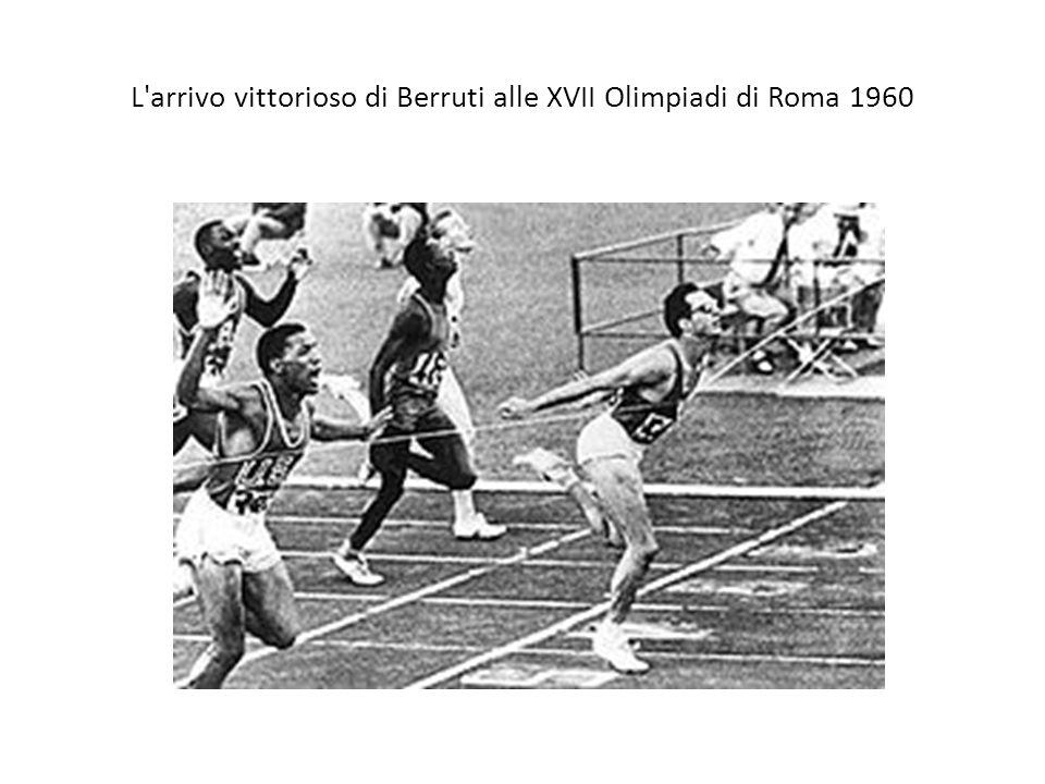 L arrivo vittorioso di Berruti alle XVII Olimpiadi di Roma 1960