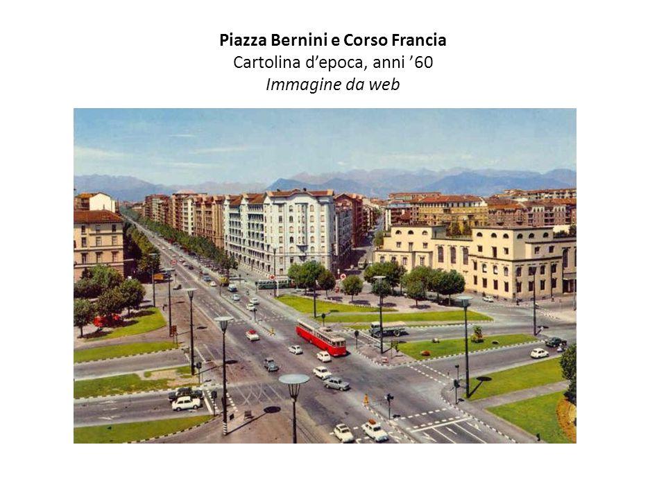 Piazza Bernini e Corso Francia Cartolina d'epoca, anni '60 Immagine da web