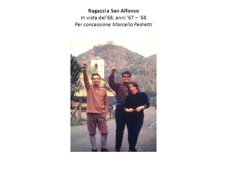 Ragazzi a San Alfonso In vista del'68, anni '67 – '68 Per concessione Marcello Pedretti