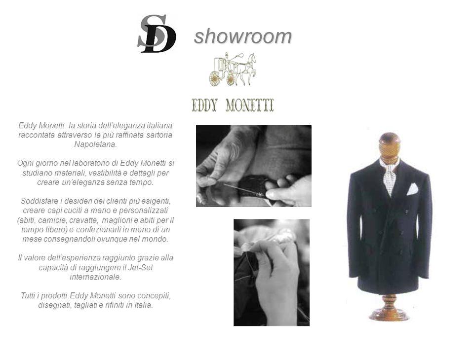 showroom Eddy Monetti: la storia dell'eleganza italiana raccontata attraverso la più raffinata sartoria Napoletana.