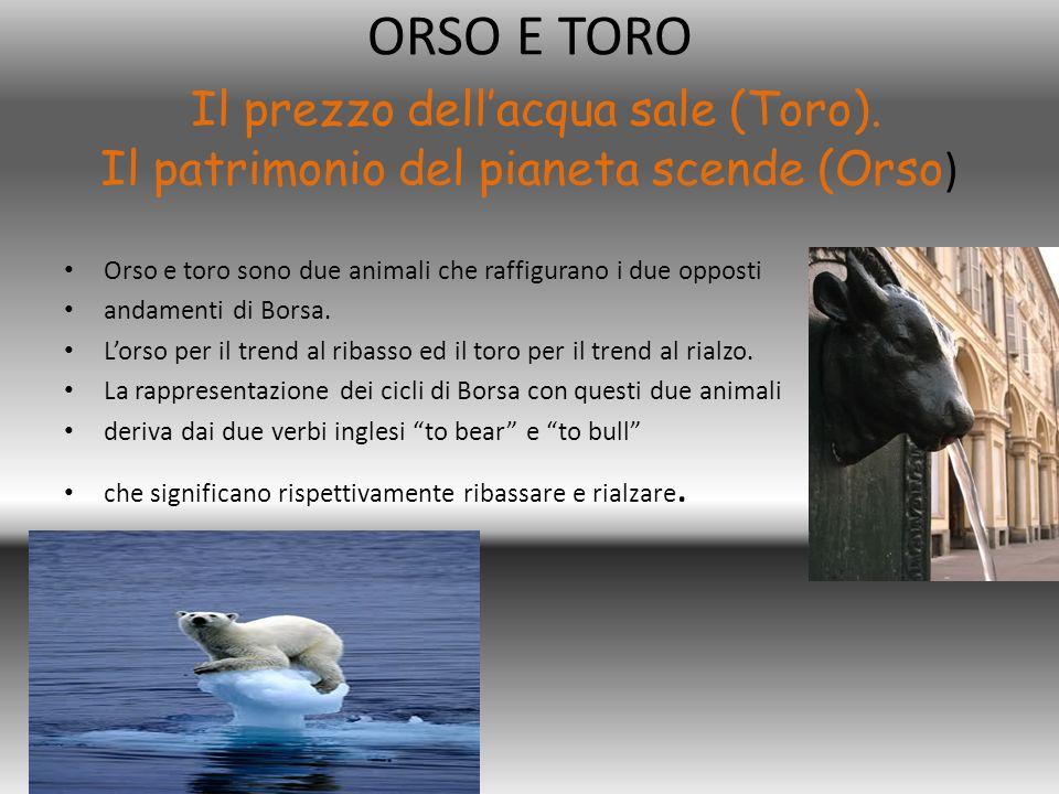 ORSO E TORO Il prezzo dell'acqua sale (Toro)