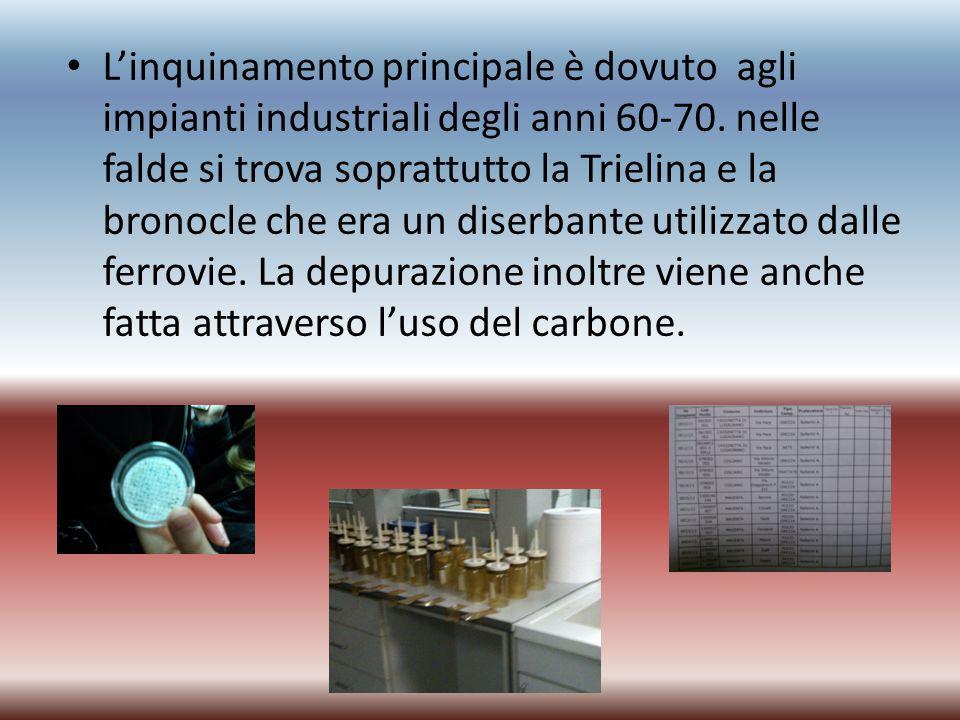 L'inquinamento principale è dovuto agli impianti industriali degli anni 60-70.