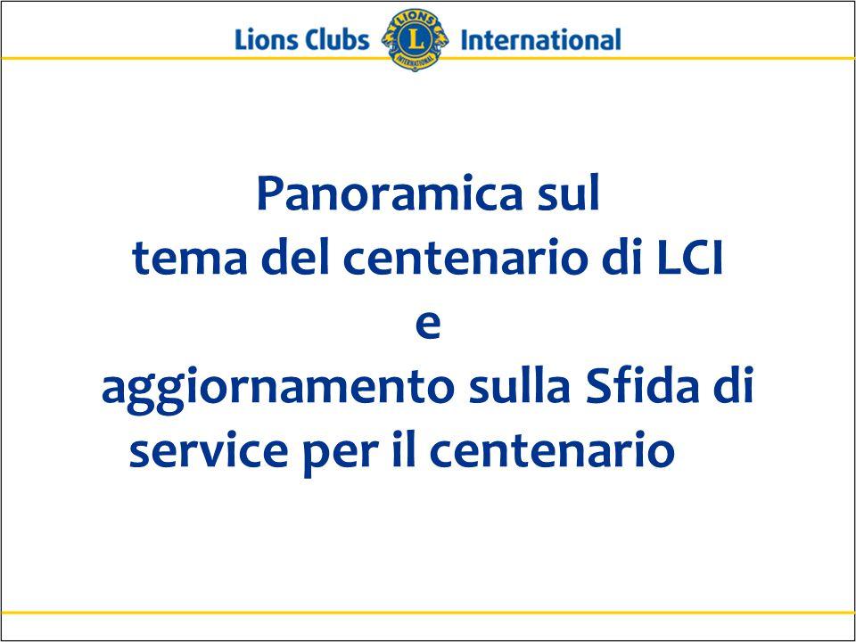 Panoramica sul tema del centenario di LCI e aggiornamento sulla Sfida di service per il centenario