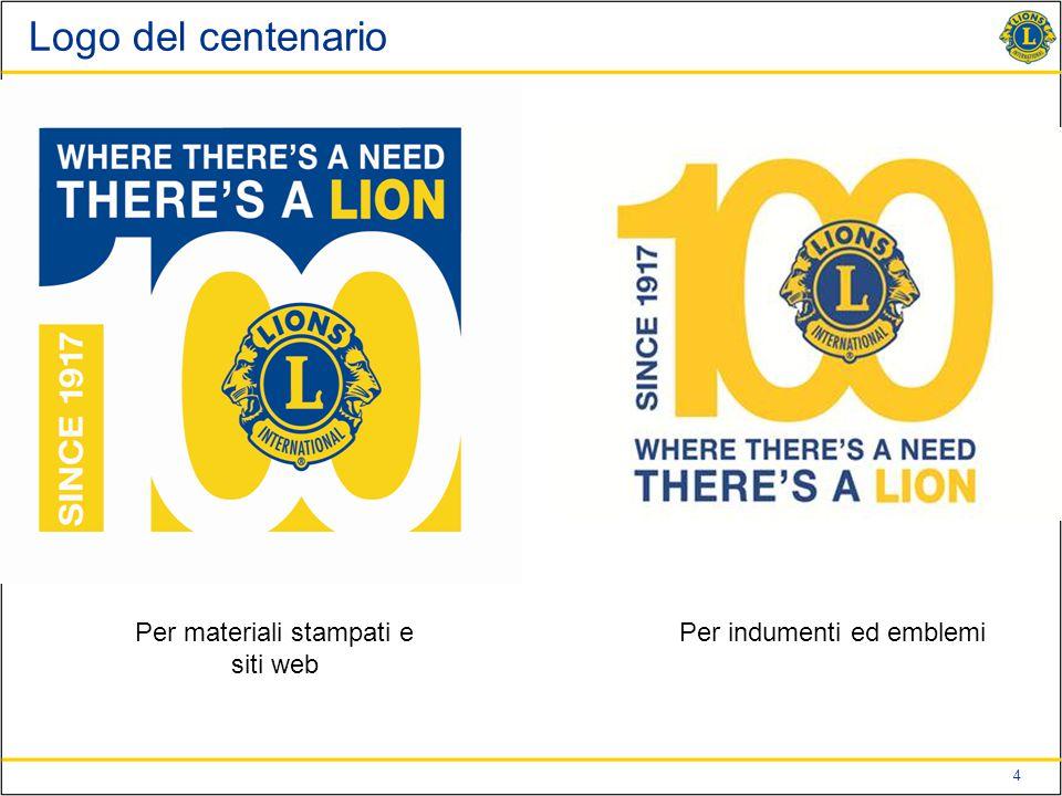 Logo del centenario Per materiali stampati e siti web