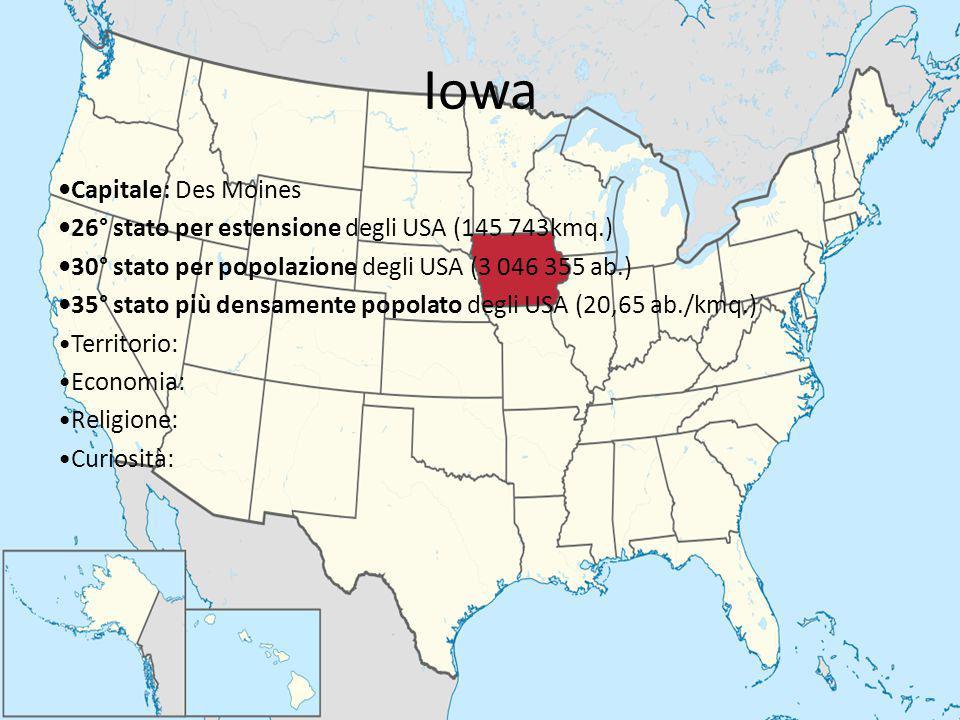 Iowa •Capitale: Des Moines