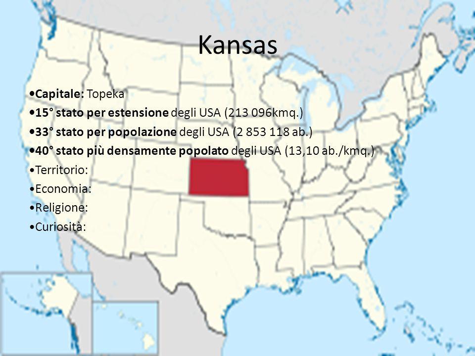 Kansas •Capitale: Topeka
