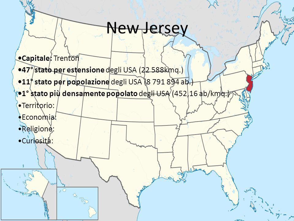 New Jersey •Capitale: Trenton