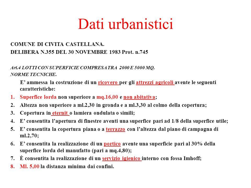 Dati urbanistici COMUNE DI CIVITA CASTELLANA.