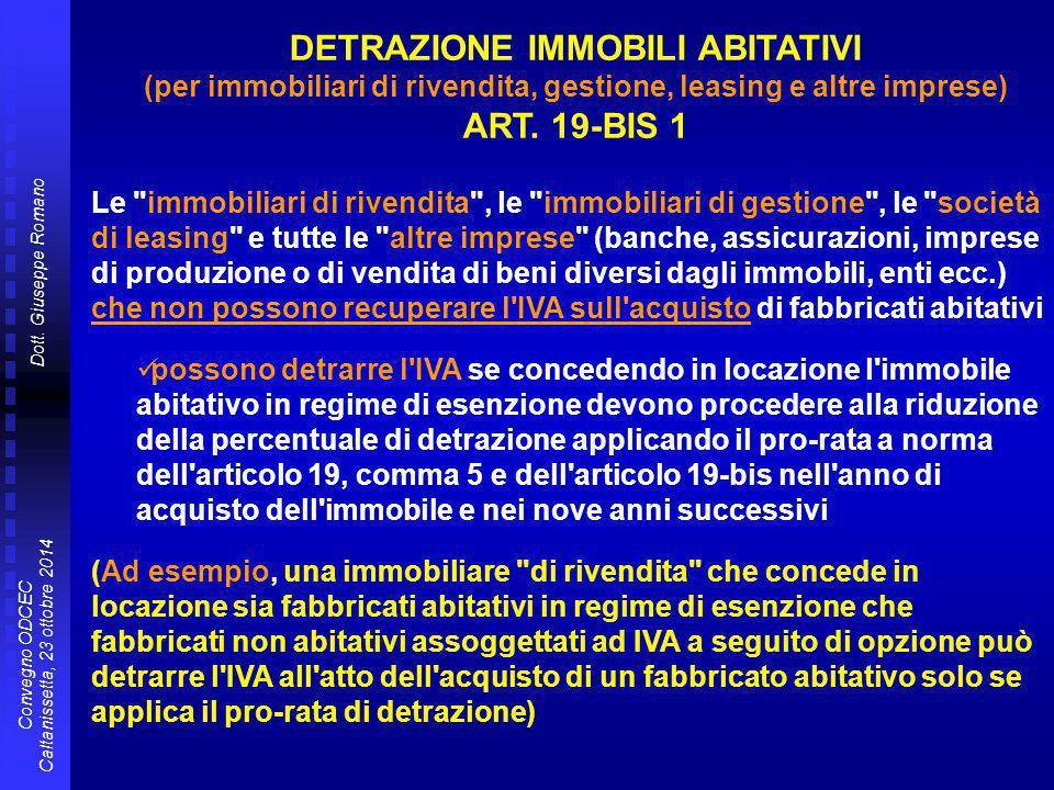 DETRAZIONE IMMOBILI ABITATIVI ART. 19-BIS 1