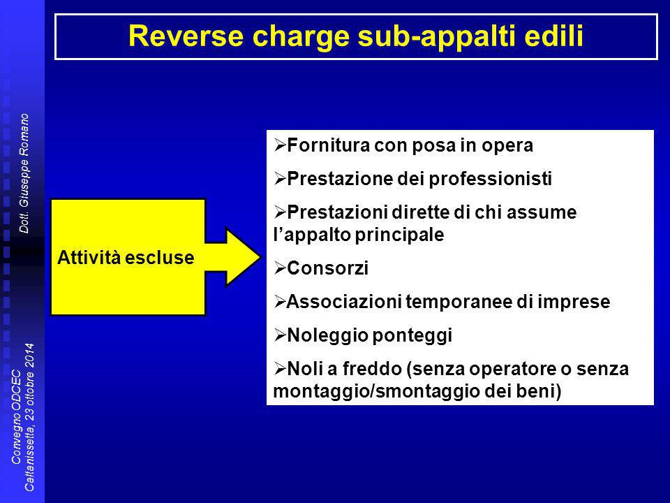 Reverse charge sub-appalti edili