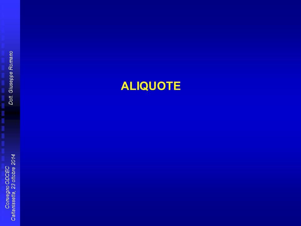 ALIQUOTE
