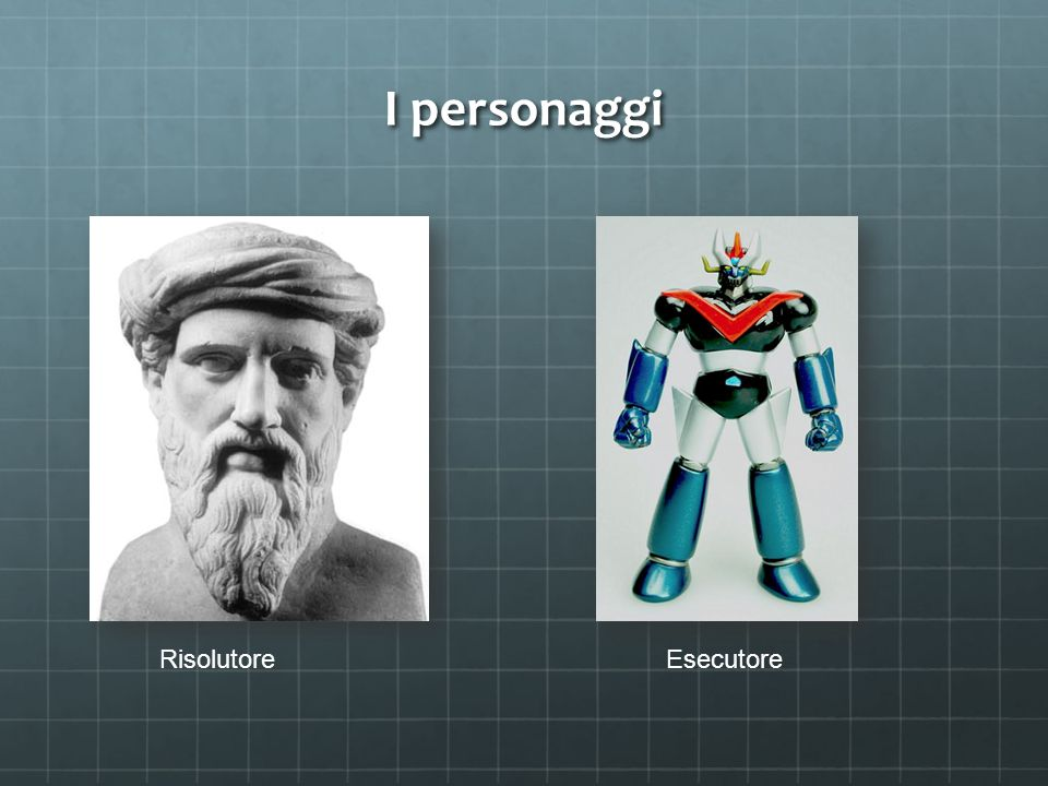 I personaggi Risolutore Esecutore