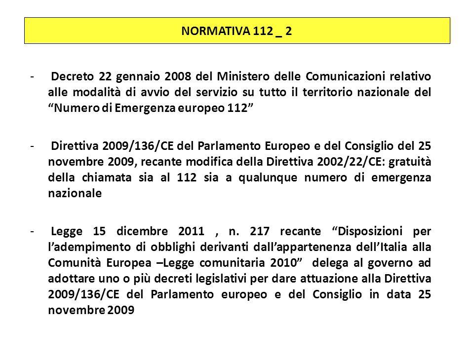 NORMATIVA 112 _ 2