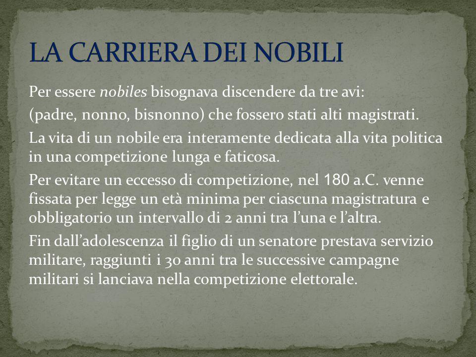 LA CARRIERA DEI NOBILI