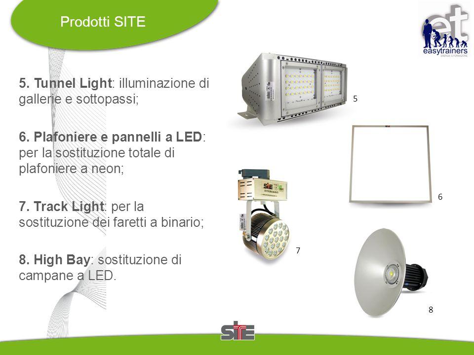 Prodotti SITE 5. Tunnel Light: illuminazione di gallerie e sottopassi;