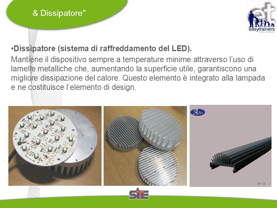 & Dissipatore Dissipatore (sistema di raffreddamento del LED).