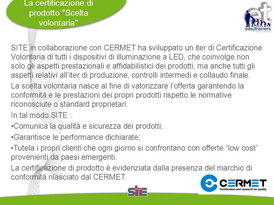 La certificazione di prodotto Scelta volontaria