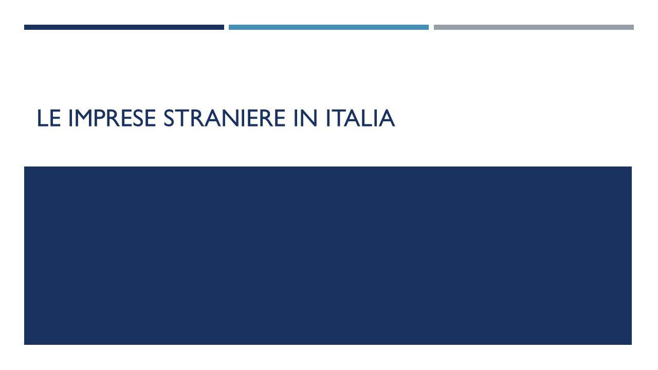 Le imprese straniere in italia