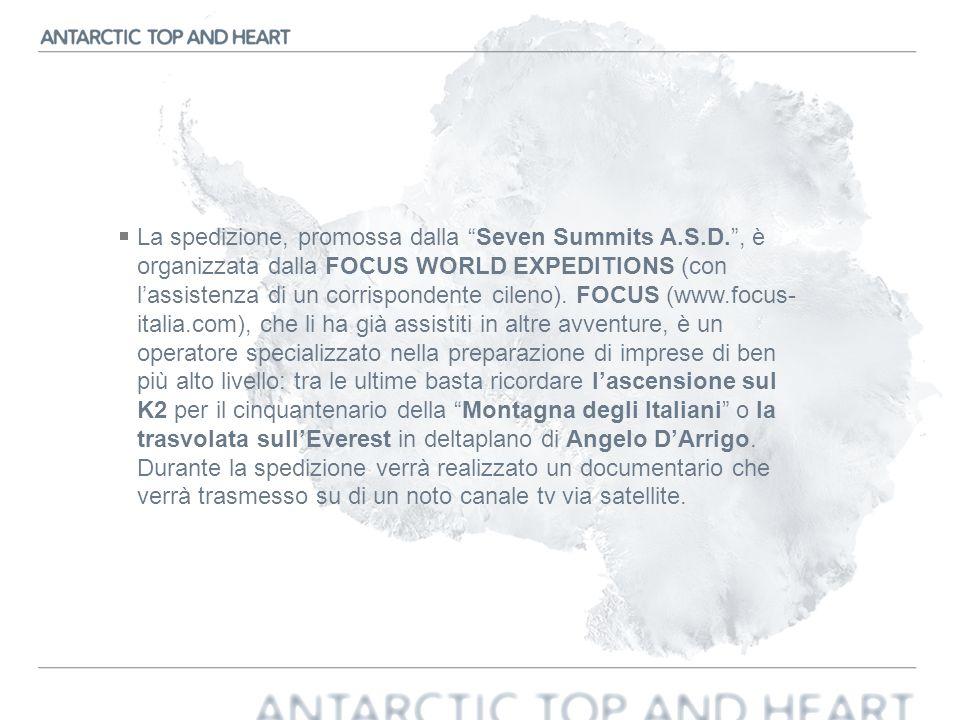 La spedizione, promossa dalla Seven Summits A. S. D
