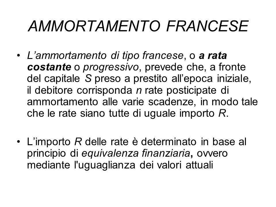 AMMORTAMENTO FRANCESE