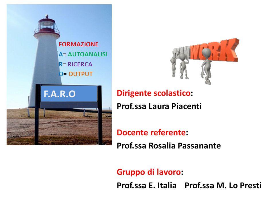 F.A.R.O Dirigente scolastico: Prof.ssa Laura Piacenti