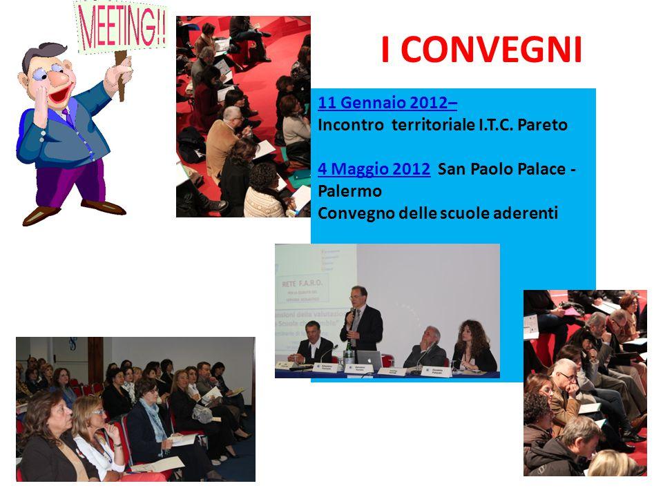 I CONVEGNI 11 Gennaio 2012– Incontro territoriale I.T.C. Pareto