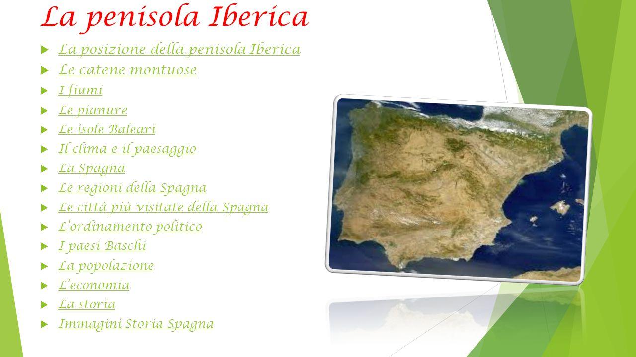 La penisola Iberica La posizione della penisola Iberica