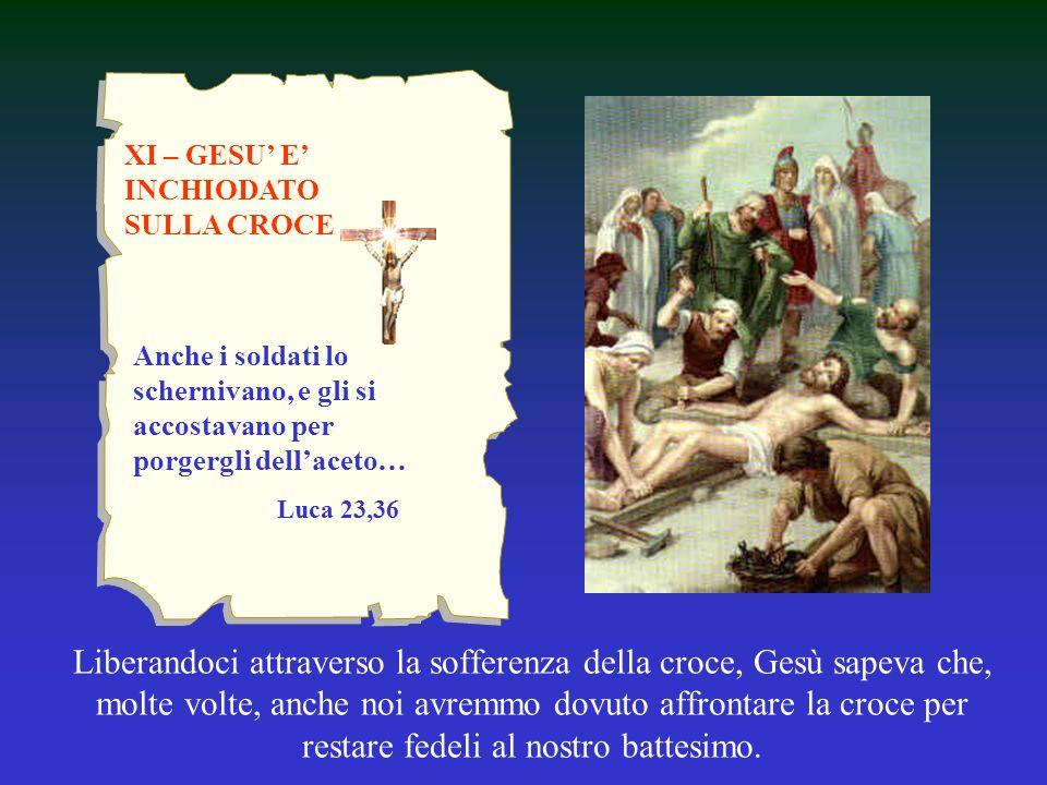 XI – GESU' E' INCHIODATO SULLA CROCE