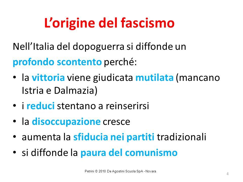 L'origine del fascismo