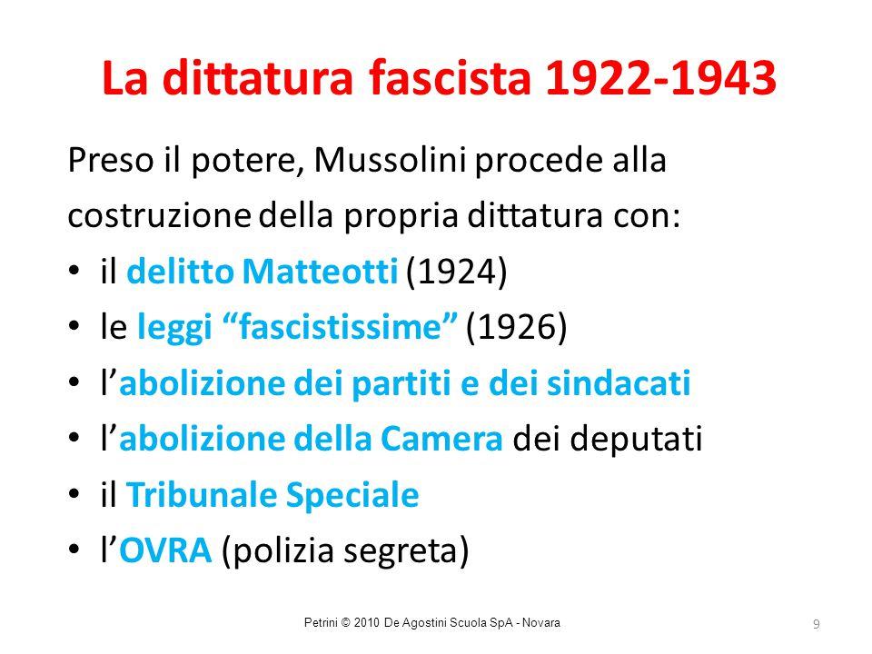 La dittatura fascista 1922-1943