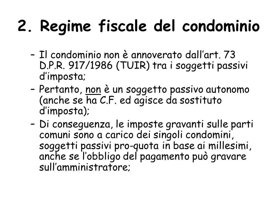 2. Regime fiscale del condominio