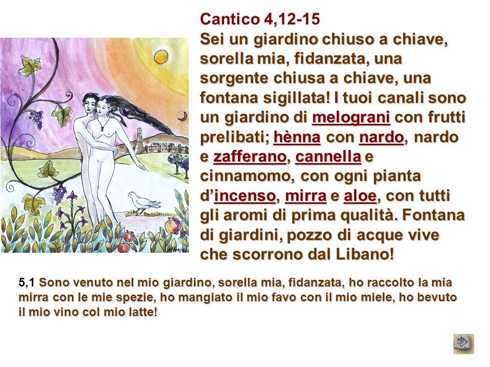 Cantico 4,12-15