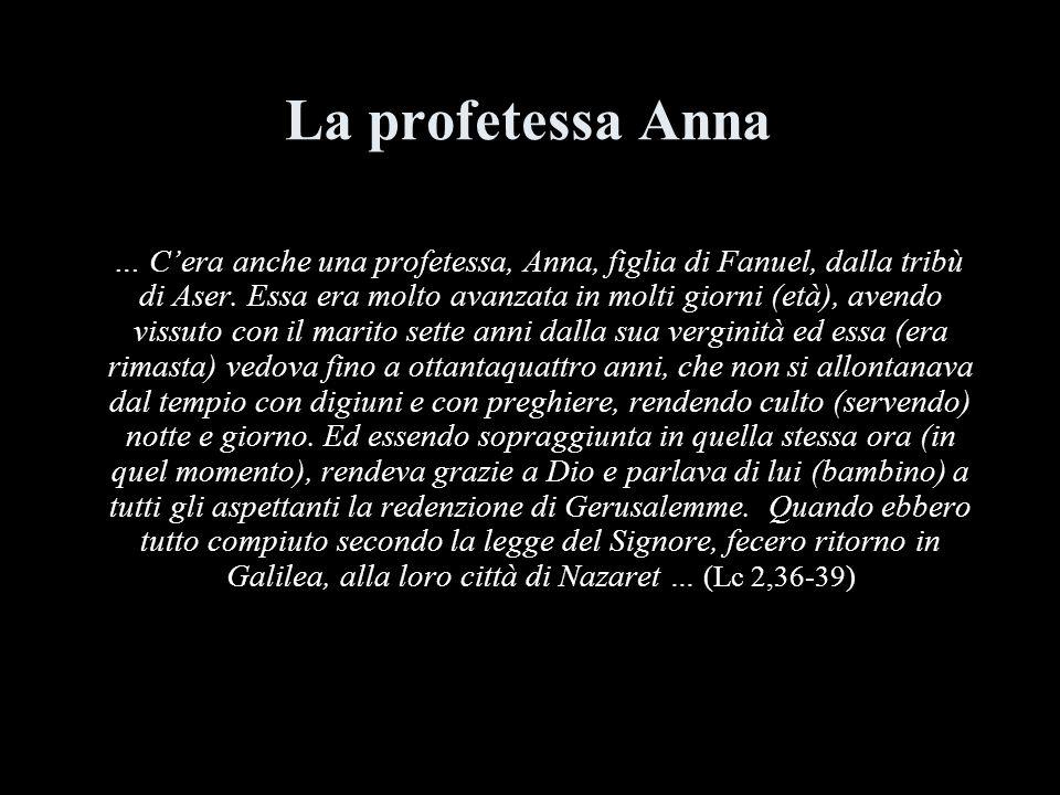 La profetessa Anna