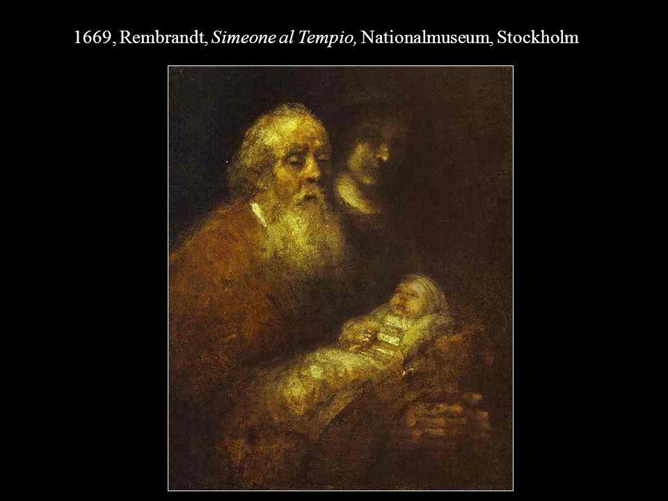 1669, Rembrandt, Simeone al Tempio, Nationalmuseum, Stockholm