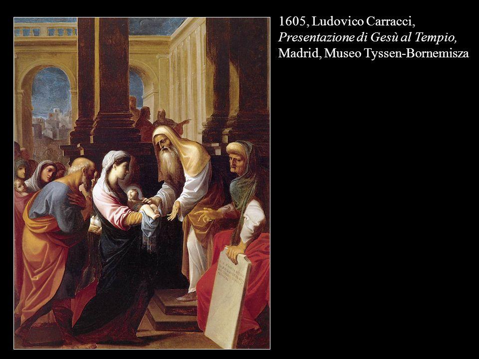 1605, Ludovico Carracci, Presentazione di Gesù al Tempio, Madrid, Museo Tyssen-Bornemisza