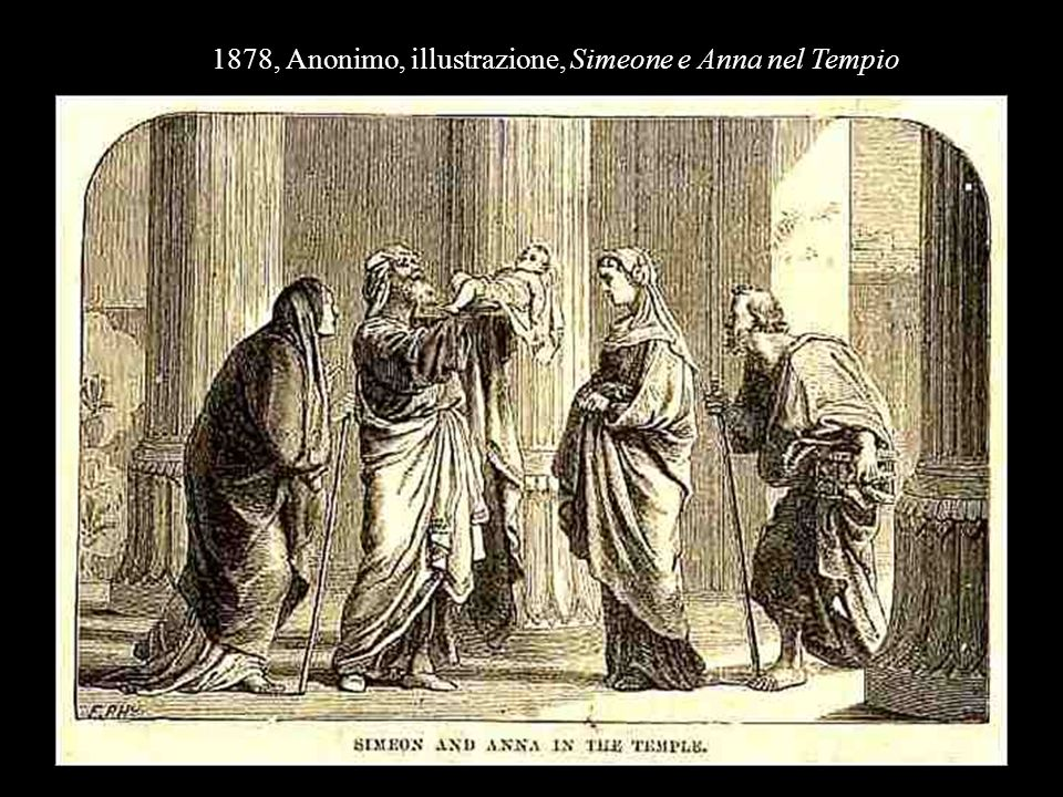 1878, Anonimo, illustrazione, Simeone e Anna nel Tempio