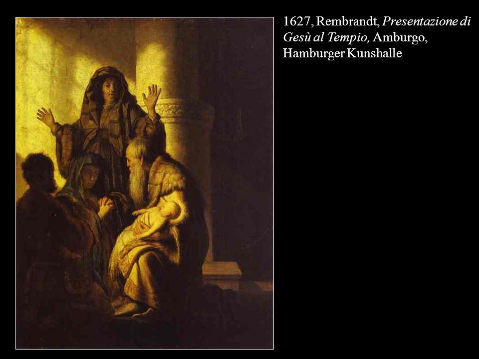 1627, Rembrandt, Presentazione di Gesù al Tempio, Amburgo, Hamburger Kunshalle