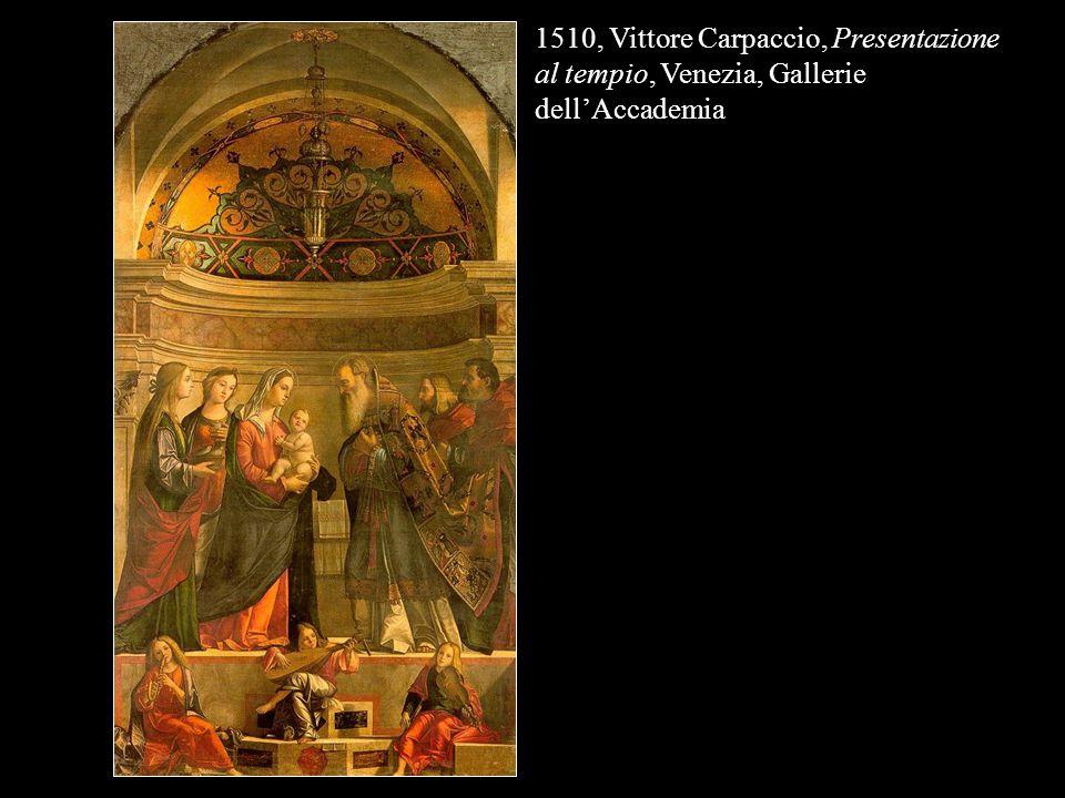 1510, Vittore Carpaccio, Presentazione al tempio, Venezia, Gallerie dell'Accademia
