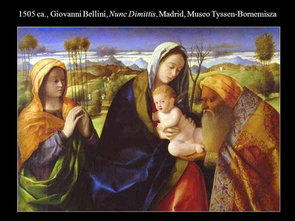 1505 ca., Giovanni Bellini, Nunc Dimittis, Madrid, Museo Tyssen-Bornemisza