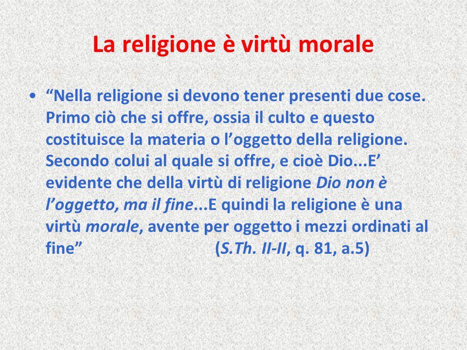 La religione è virtù morale
