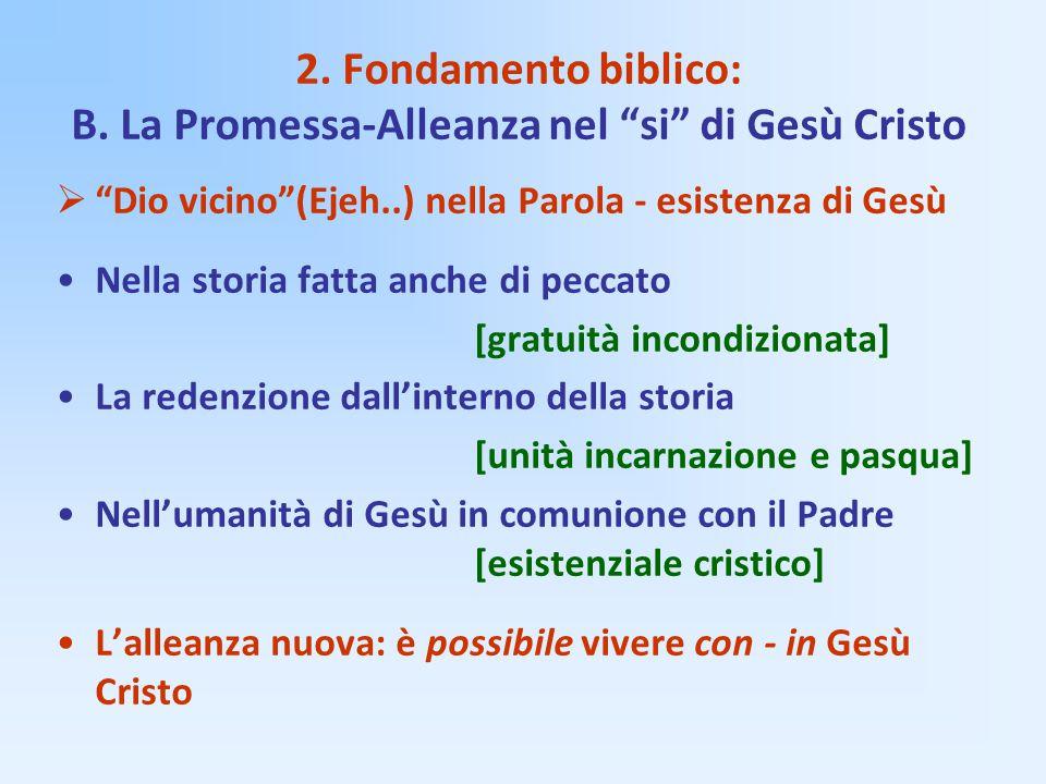 2. Fondamento biblico: B. La Promessa-Alleanza nel si di Gesù Cristo