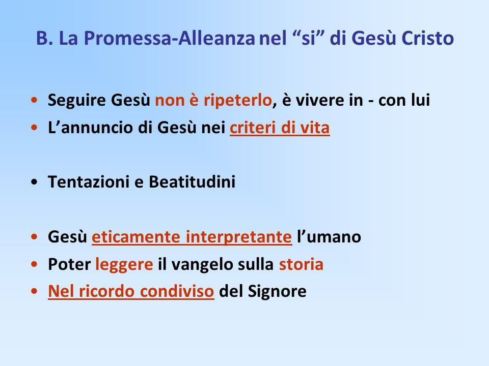 B. La Promessa-Alleanza nel si di Gesù Cristo
