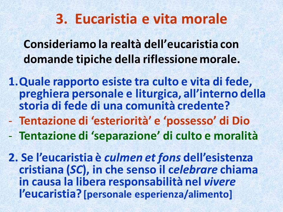 3. Eucaristia e vita morale