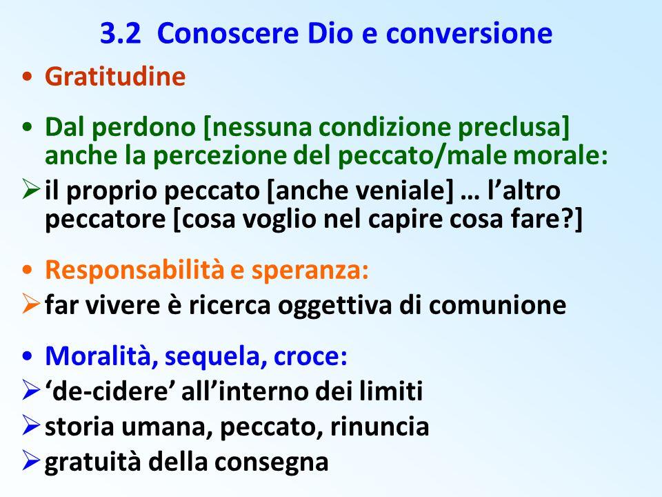 3.2 Conoscere Dio e conversione