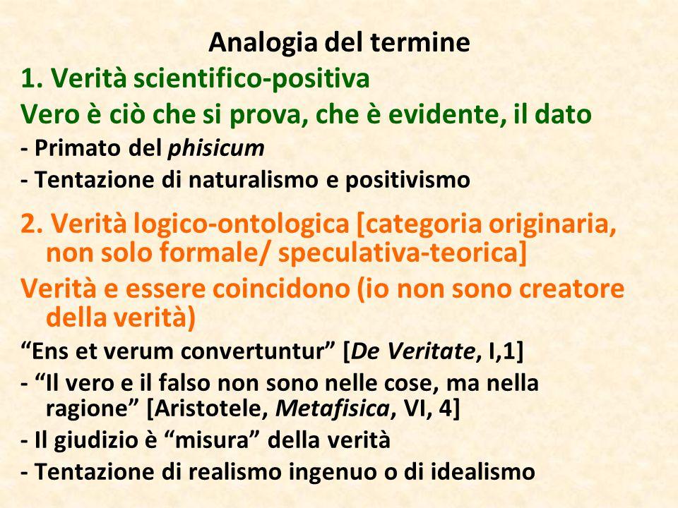 1. Verità scientifico-positiva