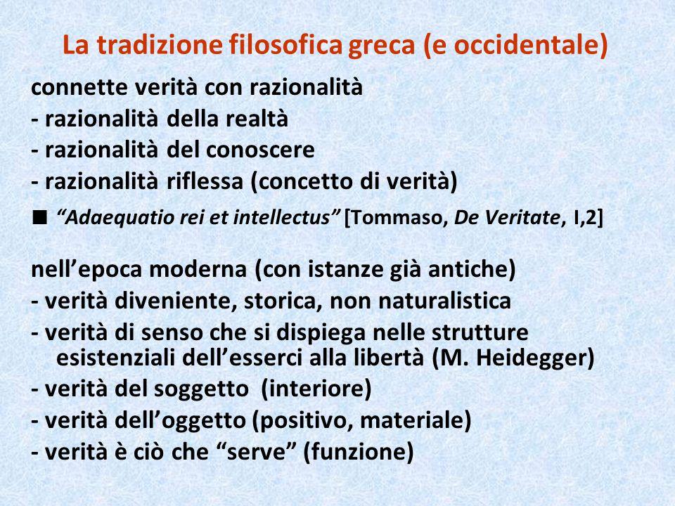 La tradizione filosofica greca (e occidentale)