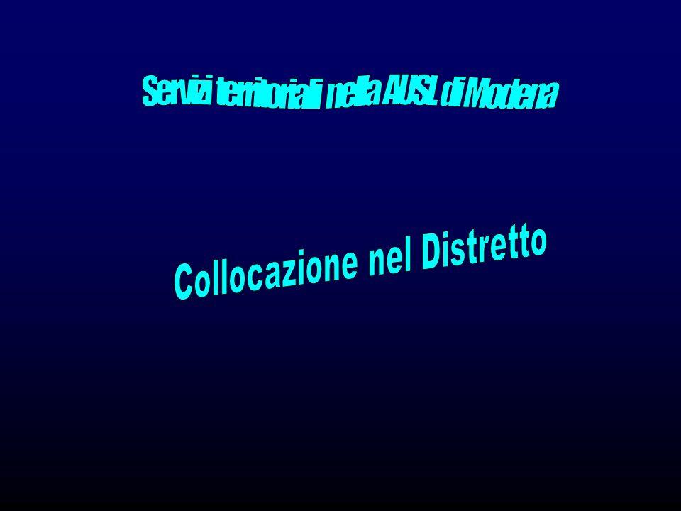 Servizi territoriali nella AUSL di Modena