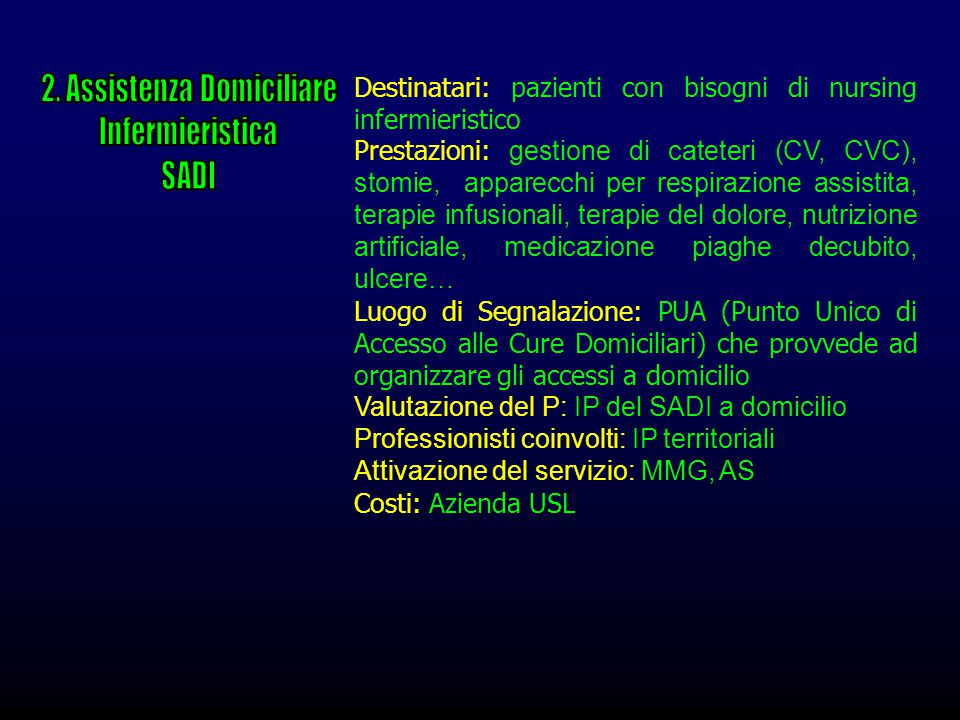2. Assistenza Domiciliare
